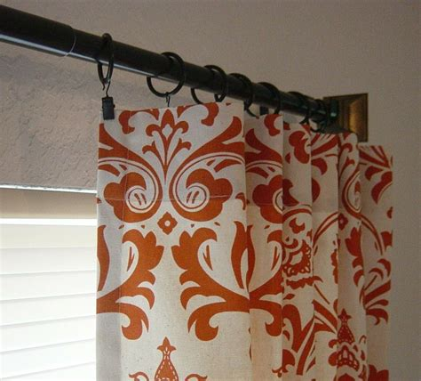 natural damask curtains pair of 50 x 84 sweet potato natural damask by