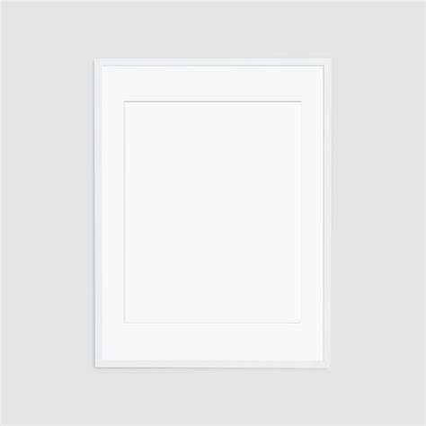 White Mat by Oversized Gallery Frame White Mat West Elm