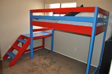 superman bed ana white superman theme loft bunk bed diy projects