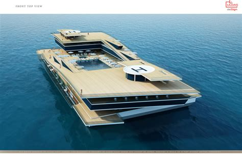 Yacht Bedroom by Uldas Design Unveils New 130m Catamaran Project Superyachts News Luxury Yachts Charter