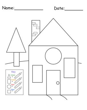 printable house shapes free printable house shapes worksheet