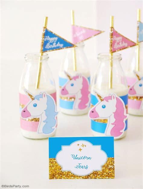 printable party decorations birthday unicorn birthday party printables supplies birdsparty com