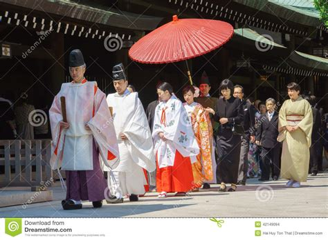 japanese shinto wedding ceremony editorial stock image image of forever 42149094