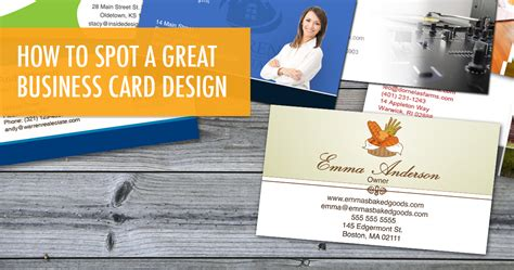 how to make a great business card how to spot a great business card design
