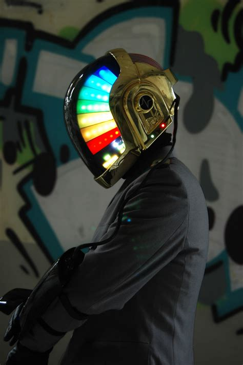 daft punk helmet love props daft punk helmet the awesomer