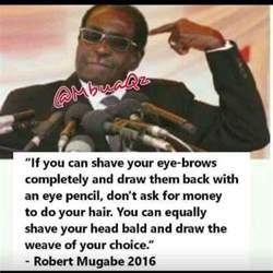 president robert mugabe quote   foreign affairs   nigeria