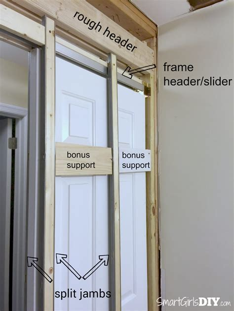 diy door frame how to install a pocket door johnson hardware 1510 series