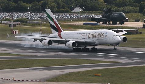 emirates germany watch an emirates a380 pull off terrifying landing during