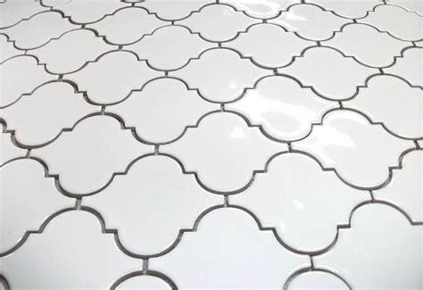 Ceramic Tile Designs For Bathrooms large arabesque whisper white mesh mosaic floor and wall tile