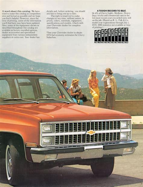 Car Brochures 1981 Chevrolet And Gmc Truck Brochures