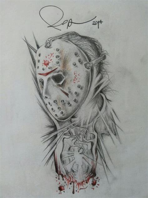 13 best drawing ideas images jason voorhees friday 13 venerdi 13 drawing by rossana