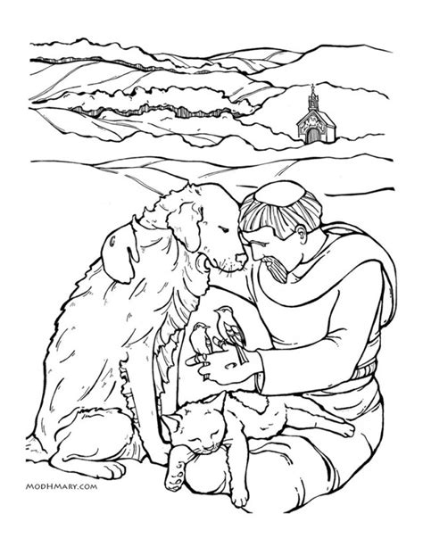 st francis of assisi coloring pages az coloring pages