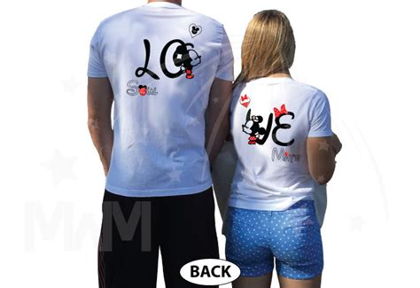 Hubby Lover Soulmate B28 Kaos Family T Shirt disney soulmate matching shirts with mickey
