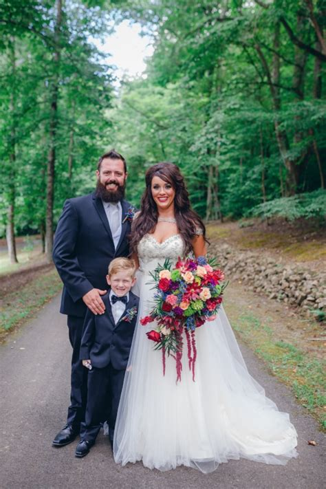 time    jewel toned forest wedding