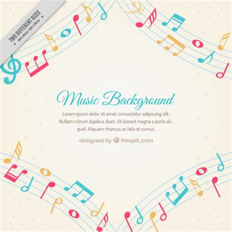 imagenes de motivos musicales notas musicales fotos y vectores gratis