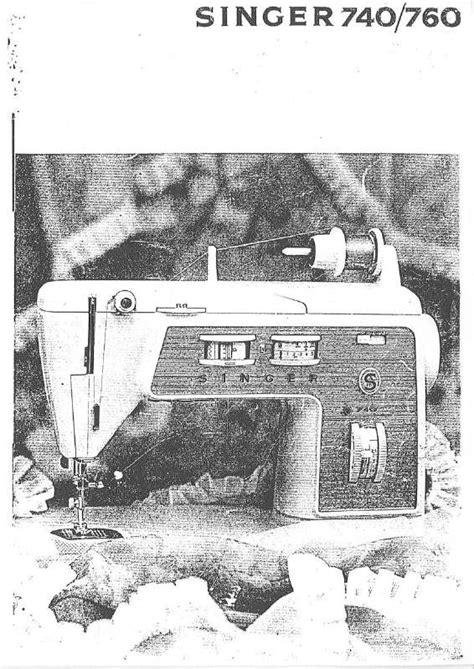 Notice machine à coudre SINGER 740 Trouver une solution à