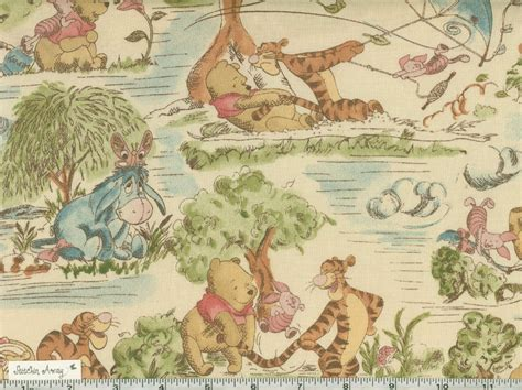 Winnie The Pooh Quilting Fabric winnie the pooh tigger quilting fabric sewing toile