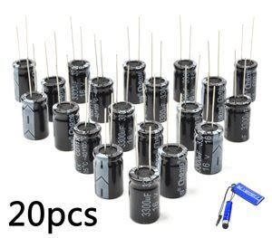 replacement for aluminum electrolytic capacitors bluecell pack of 20 16v 3300uf 105c high temperature radial leads replacement aluminium