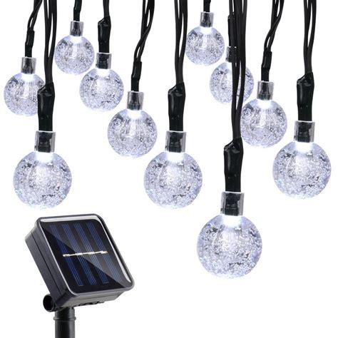 Qedertek Globe Solar String Lights 19 7ft 30 Led Fairy Solar Globe String Lights Outdoor