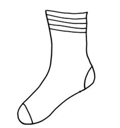 sock template sock template clipart best