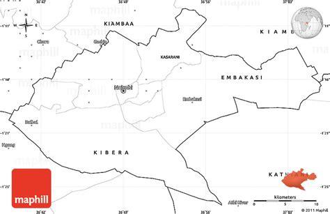 printable map kenya blank simple map of nairobi