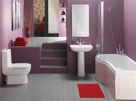 Cheap Decorating Ideas For Bathrooms Bathroom Bathroom Decorating Ideas On A Budget With Purple Wall Bathroom Decorating Ideas On A
