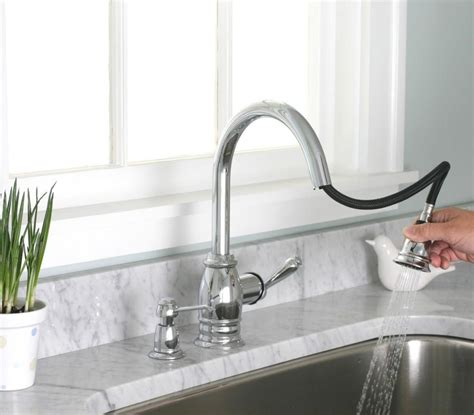 peerless pull kitchen faucet save space with a pull kitchen faucet a creative