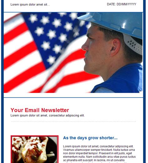 New Holiday Nature Art And Newsletter Email Templates In Groupmail Labor Day Email Template