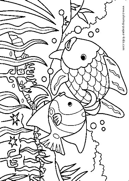 imgs for gt rainbow fish coloring page