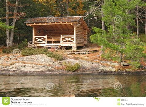 Rustic Lake Cabin by Rustic Cabin By A Lake Stock Images Image 6800764