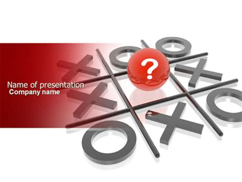 tic tac toe powerpoint template backgrounds 04226