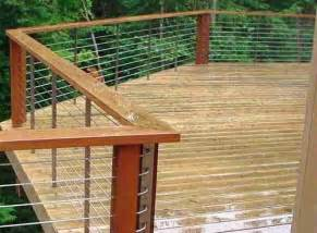 deck patio porch balcony cable railing modern home