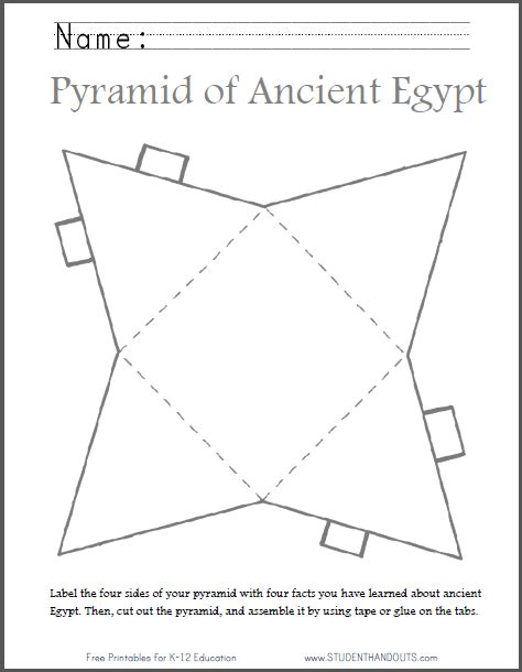 diy ancient egyptian pyramid template to print
