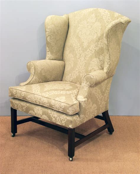 antique wing arm chair georgian wing chair  century