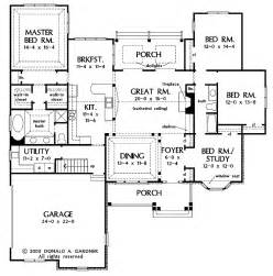 Open Floor Plan House Plans One Story by One Story Open Floor Plans With 4 Bedrooms Generous One
