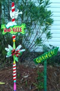 whoville and grinch yard signs the the the grinch