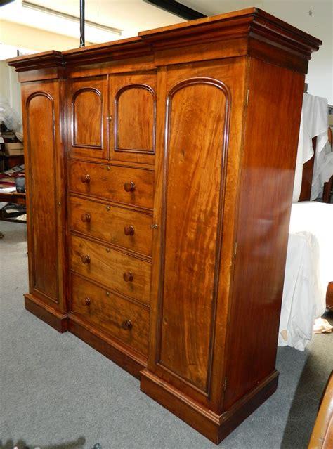 Reasonably Priced Wardrobes Mahogany Compactum Wardrobe Antiques Atlas