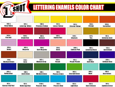one paint color chart lettering enamel gif 685 215 520 vinyl