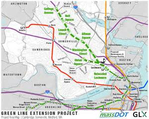 Mbta Green Line Map by Mbta Green Line Extension Map Quotes