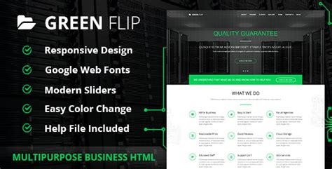 bootstrap themes green green flip one page theme bootstrap 3 premium