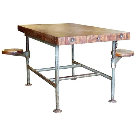 swing table l industrial swing seat work table at 1stdibs