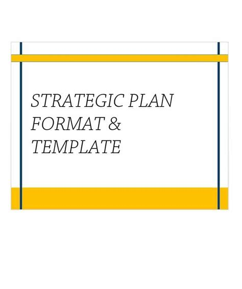 strategic plan outline template 32 great strategic plan templates to grow your business