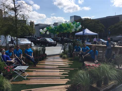 park bench buckhead park ing day transforms buckhead parking lots collins