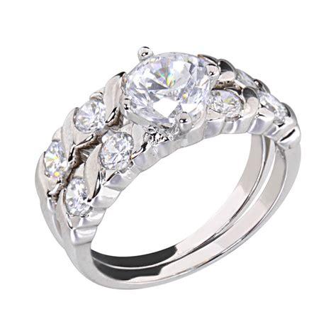 1 25 carats cubic zirconia rhodium ep bridal