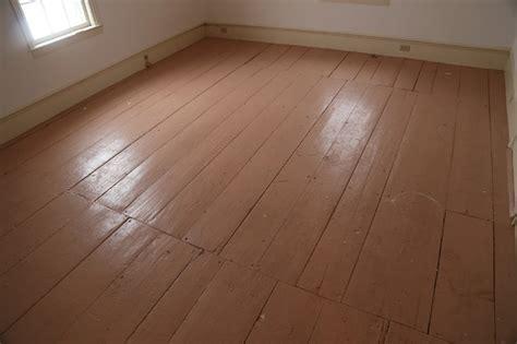 painted pine flooring before