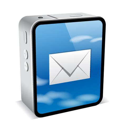 iPhone 4 Black Email Icon - iPhone 4 Mini Icons ...
