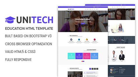 Unitech Education Html Template Themeforest Website Templates And Themes Youtube Themeforest Website Templates Free