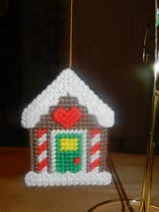 gingerbread house christmas ornament hand stitched