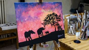 glow in the paintings for sale this artist paints with light and it looks dazzling