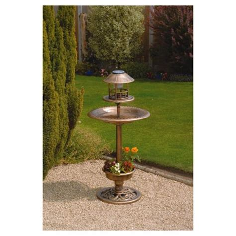 bird bath feeder with solar light and planter buy bird bath feeder with solar light and planter from